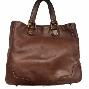 Gucci Leather Top Handle Tote